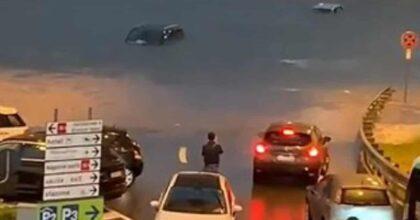 Nubifragio Malpensa, dieci persone intrappolate nelle loro auto salvate dai Vigili del fuoco