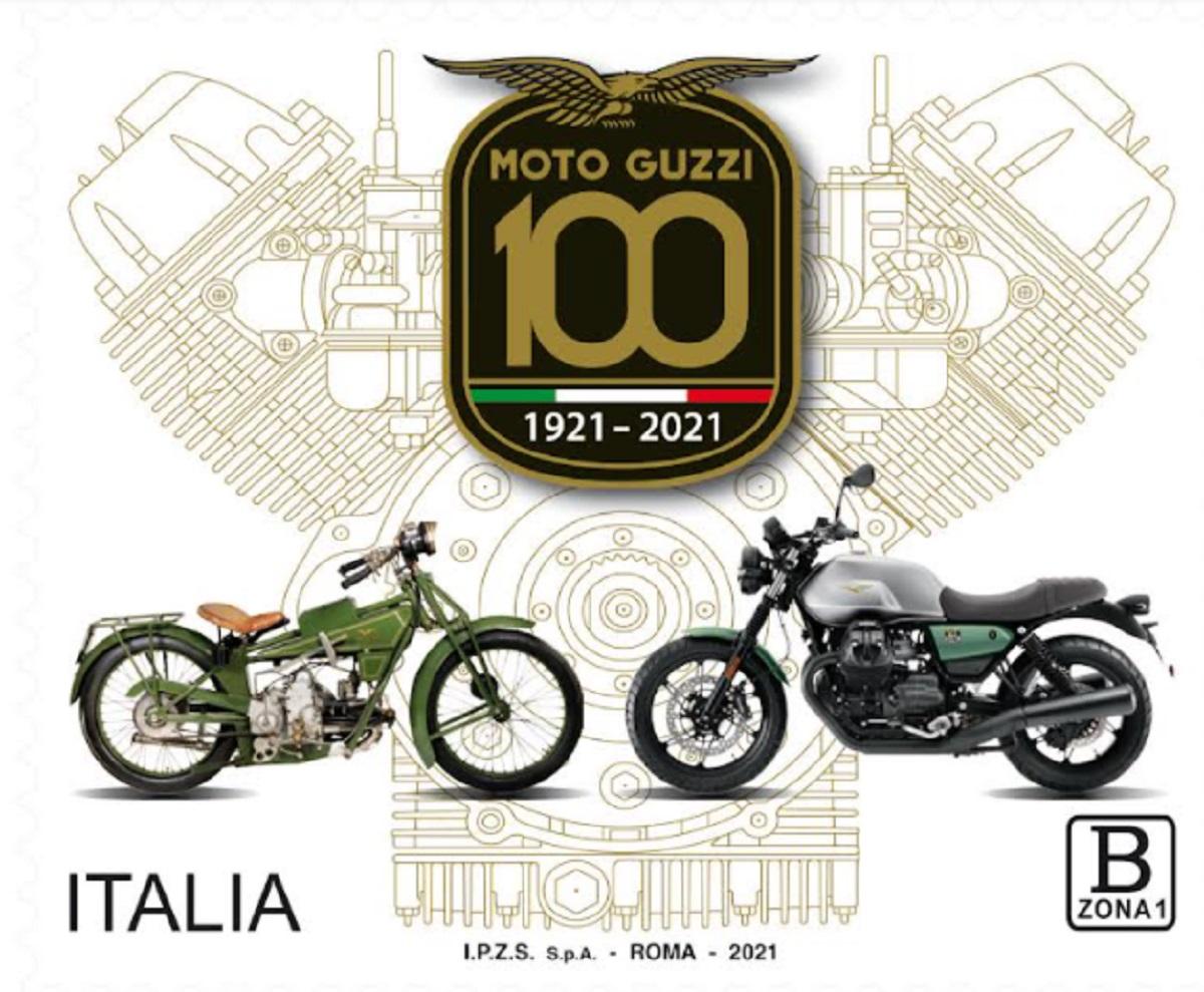 Poste Italiane e il francobollo dedicato alla Moto Guzzi nel centenario della fondazione