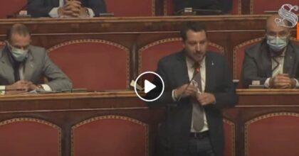 """Green pass va bene anche alla Lega: ritirati emendamenti al decreto, Salvini """"abbozza"""" VIDEO"""
