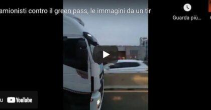 Camionisti contro il Green Pass, procedono a 30 km all'ora per bloccare le autostrade VIDEO