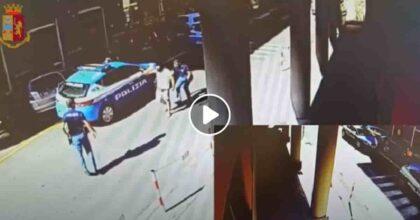 Sestri Ponente: minaccia poliziotti con una pietra proprio davanti al Commissariato VIDEO