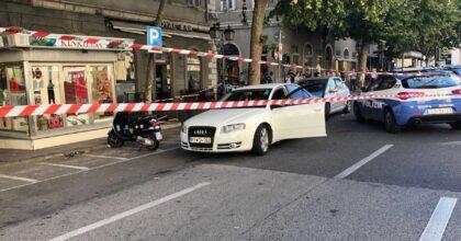 Trieste, sparatoria in via Carducci: rissa e colpi d'arma da fuoco. Un ferito grave. L'area chiusa dalle forze dell'ordine