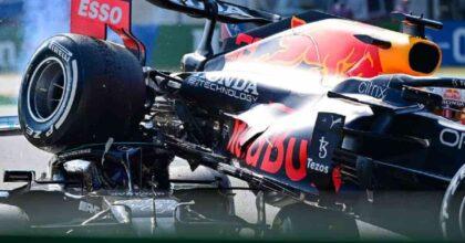 Gp Monza, Verstappen punito (tre posizioni di penalità alla prossima partenza). Halo salva la testa di Hamilton FOTO VIDEO