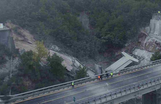 Strada dei Parchi (A24), la demolizione controllata del Viadotto Cerqueta VIDEO