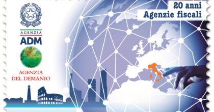 Poste Italiane, francobollo dedicato ai 20 della nascita delle Agenzie fiscali