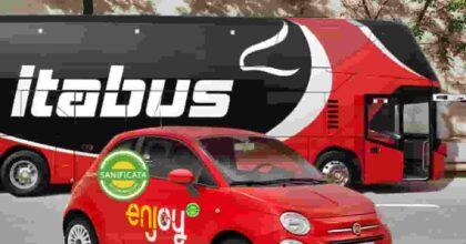 Enjoy e Itabus, accordo per una mobilità integrata e sostenibile tra bus e car sharing