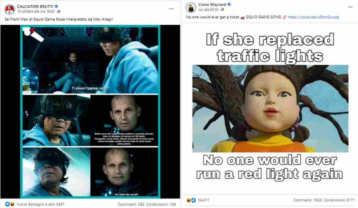 Squid Game, i meme sui social network