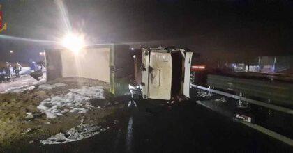 Incidente A4: tamponamento a catena tra 4 Tir a Brescia, un 40enne morto schiacciato tra le lamiere