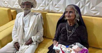 india partorisce a 70 anni