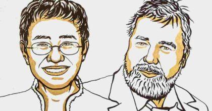 """Nobel per la Pace 2021 ai giornalisti Maria Ressa e Dmitry Muratov: """"Hanno difeso la libertà d'espressione"""""""