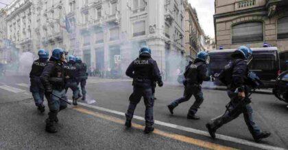 scontri roma foto ansa