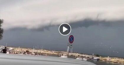 maltempo sicilia, shelf cloud